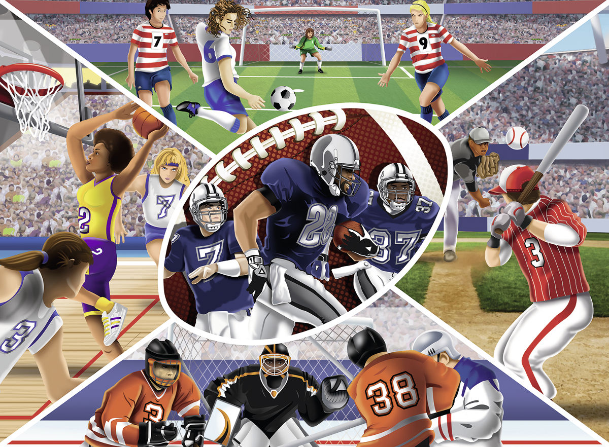 Sports Collage Jigsaw Puzzle Puzzlewarehouse Com