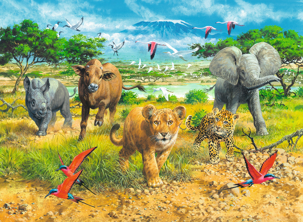 African Animal Babies Jigsaw Puzzle Puzzlewarehouse Com