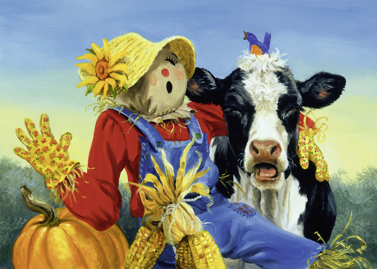 Barnyard Duet - Scratch and Dent Fall Jigsaw Puzzle