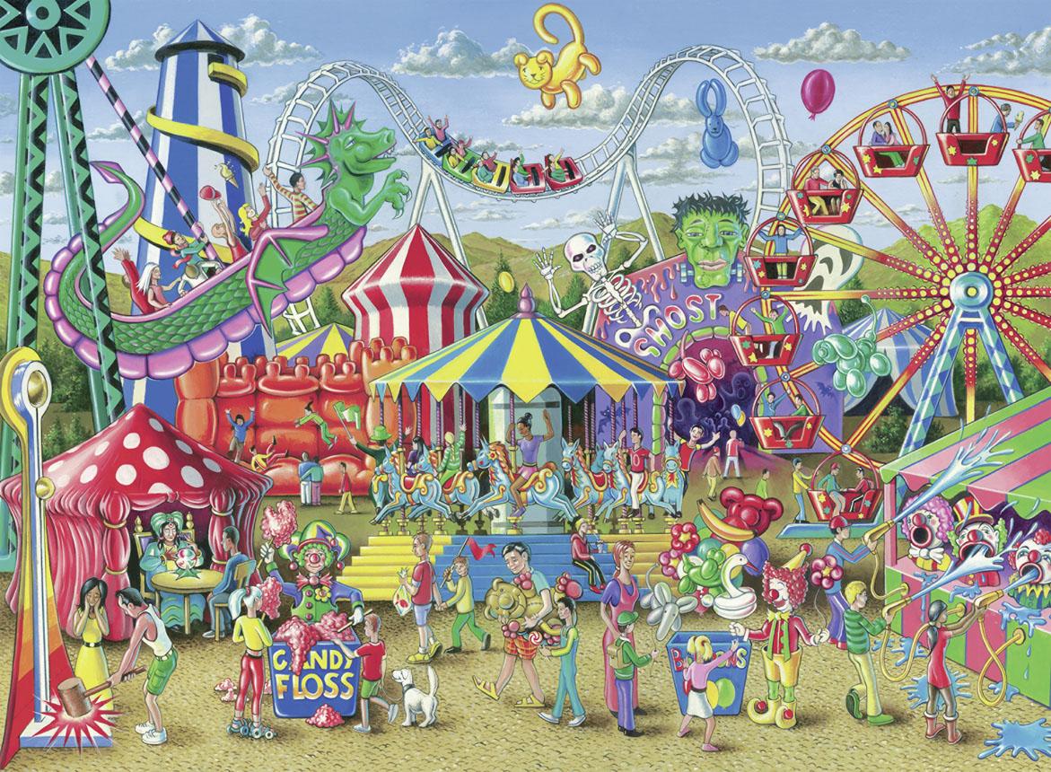 Fun at the Carnival Cartoons Jigsaw Puzzle