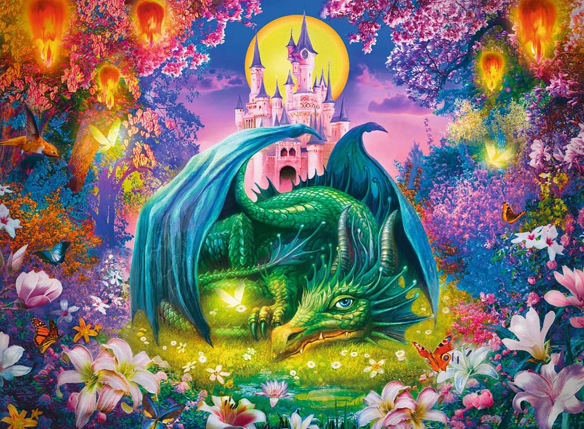 Forest Dragon Fantasy Jigsaw Puzzle