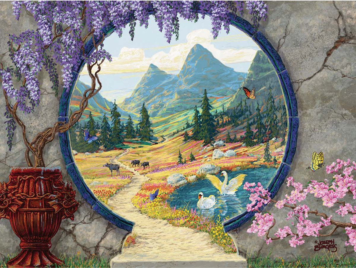 Into a New World Mountains Jigsaw Puzzle