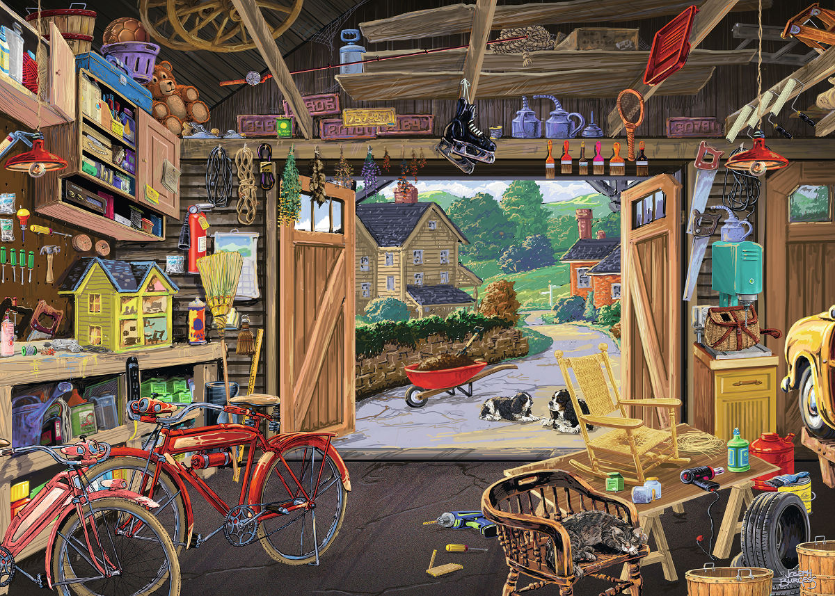 Grandpa's Garage - Scratch and Dent Everyday Objects Jigsaw Puzzle