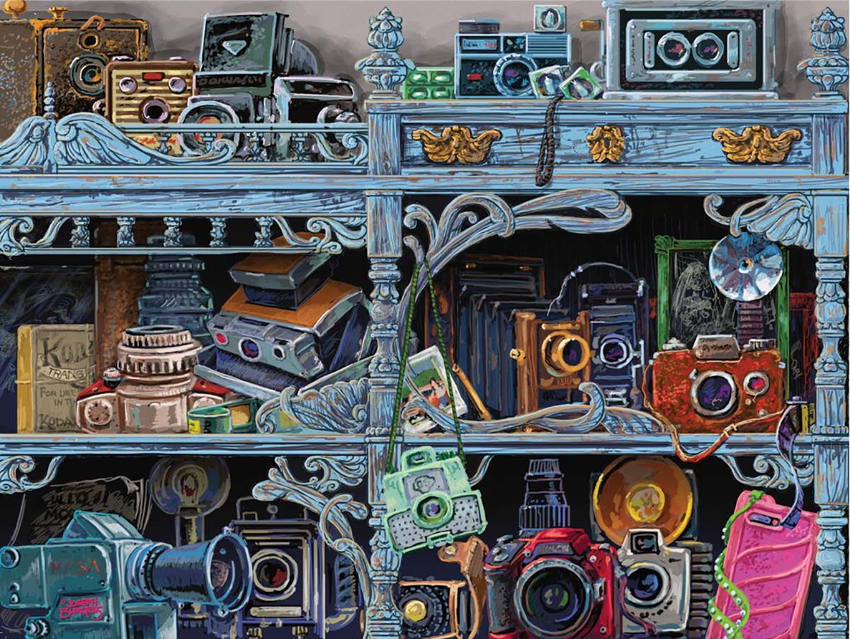 Camera Evolution Everyday Objects Jigsaw Puzzle