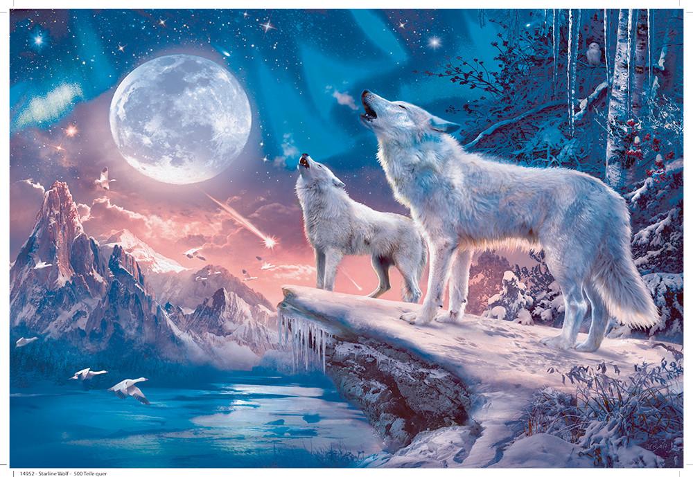 Twilight Howl Wolves Glitter / Shimmer / Foil Puzzles