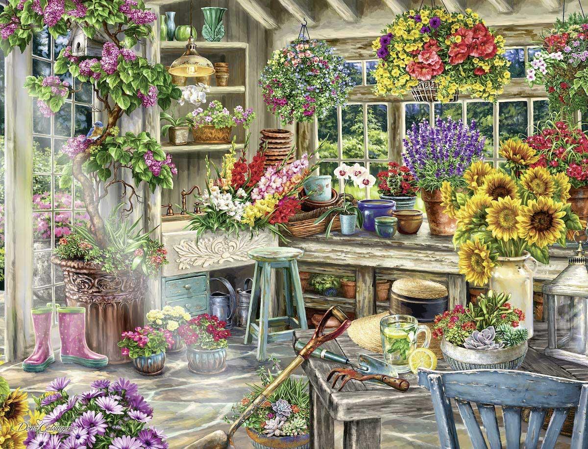 Gardener's Paradise Flowers Jigsaw Puzzle
