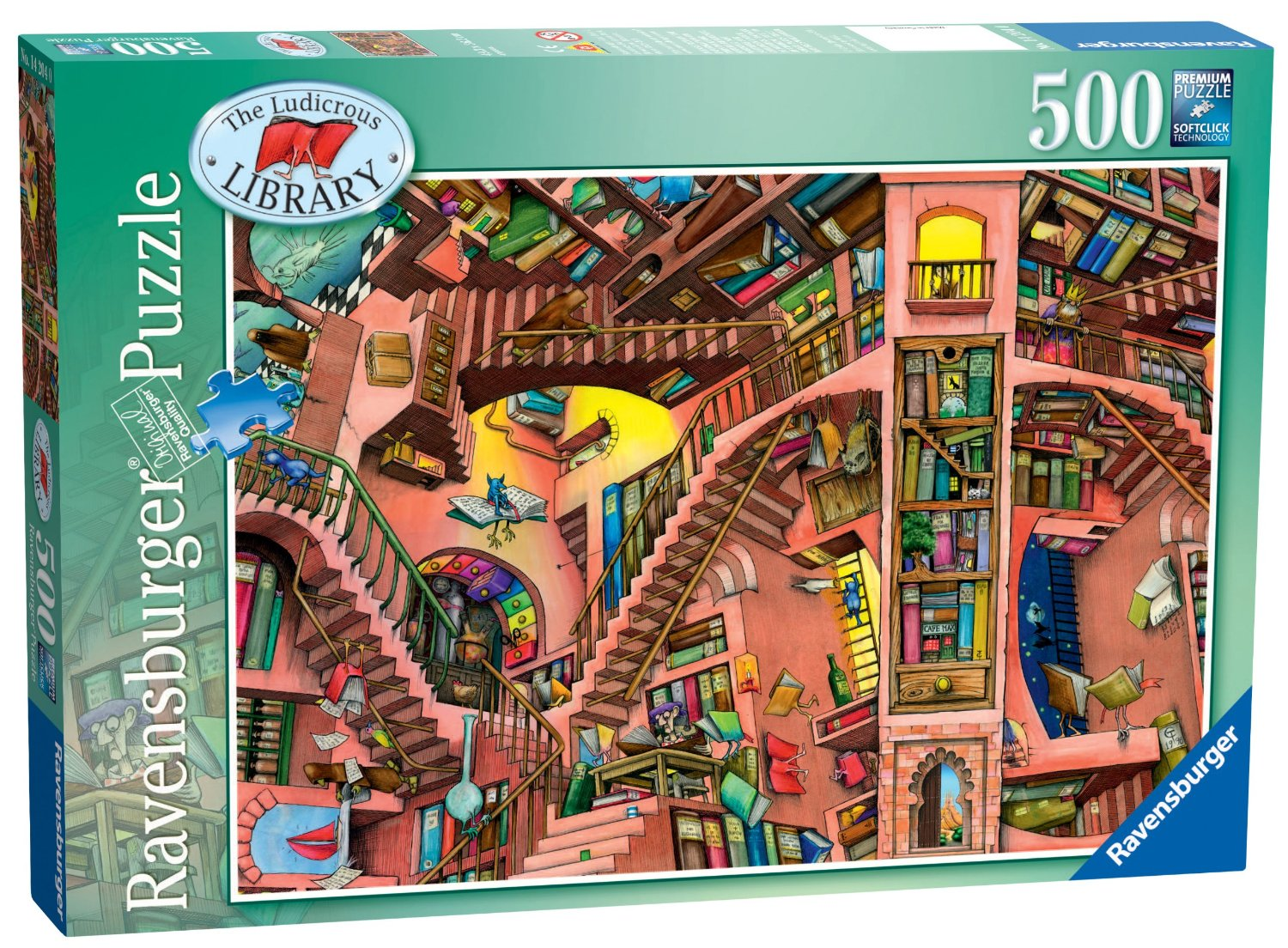 The Ludicrous Library Cartoons Jigsaw Puzzle