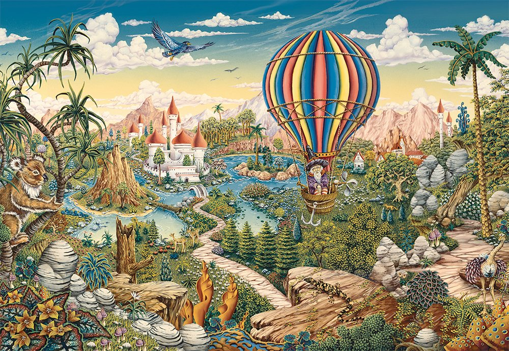 Hot Air Hero Fantasy Jigsaw Puzzle