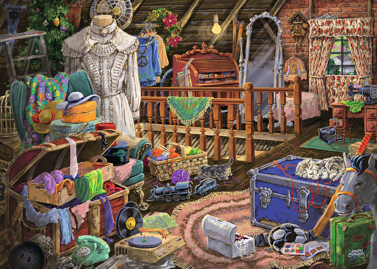 The Attic Nostalgic / Retro Jigsaw Puzzle