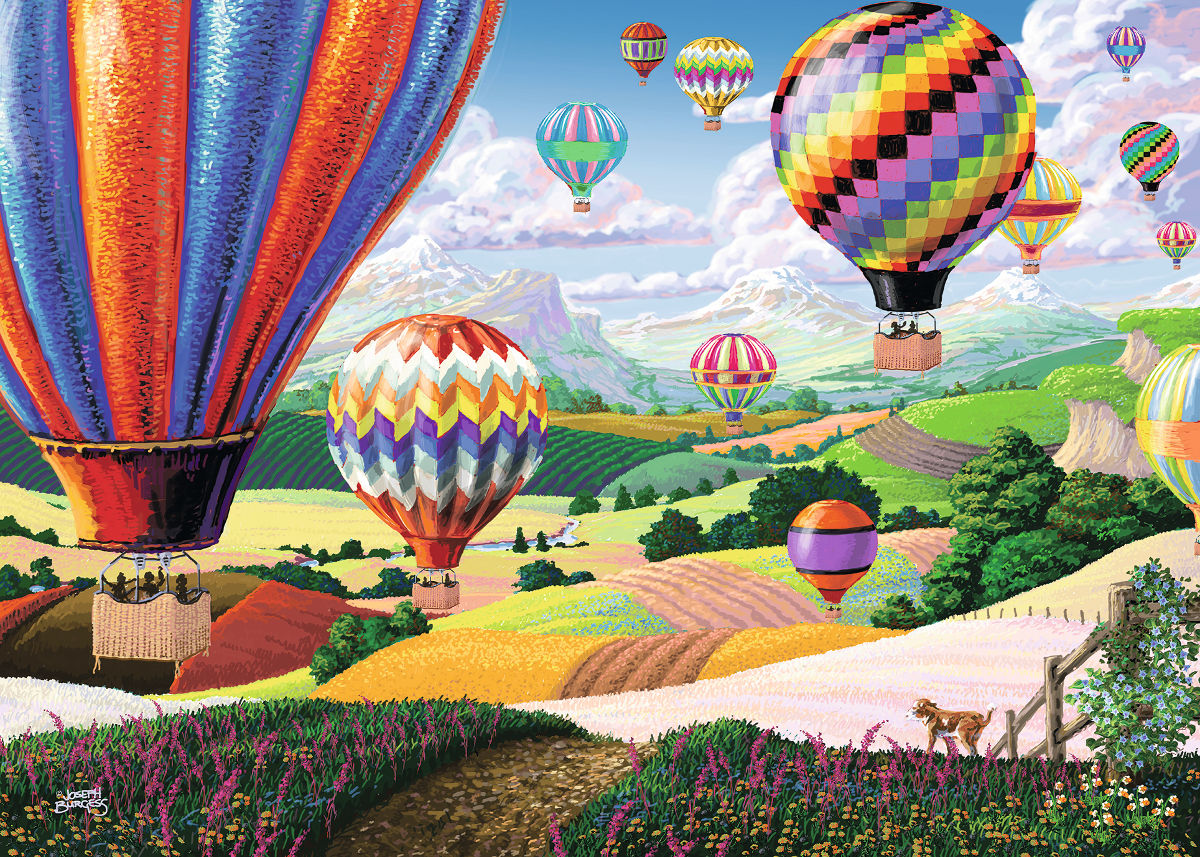 Brilliant Balloons Countryside Jigsaw Puzzle