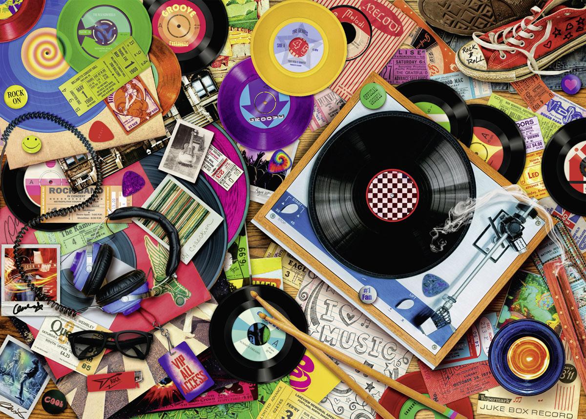 Viva le Vinyl Everyday Objects Jigsaw Puzzle