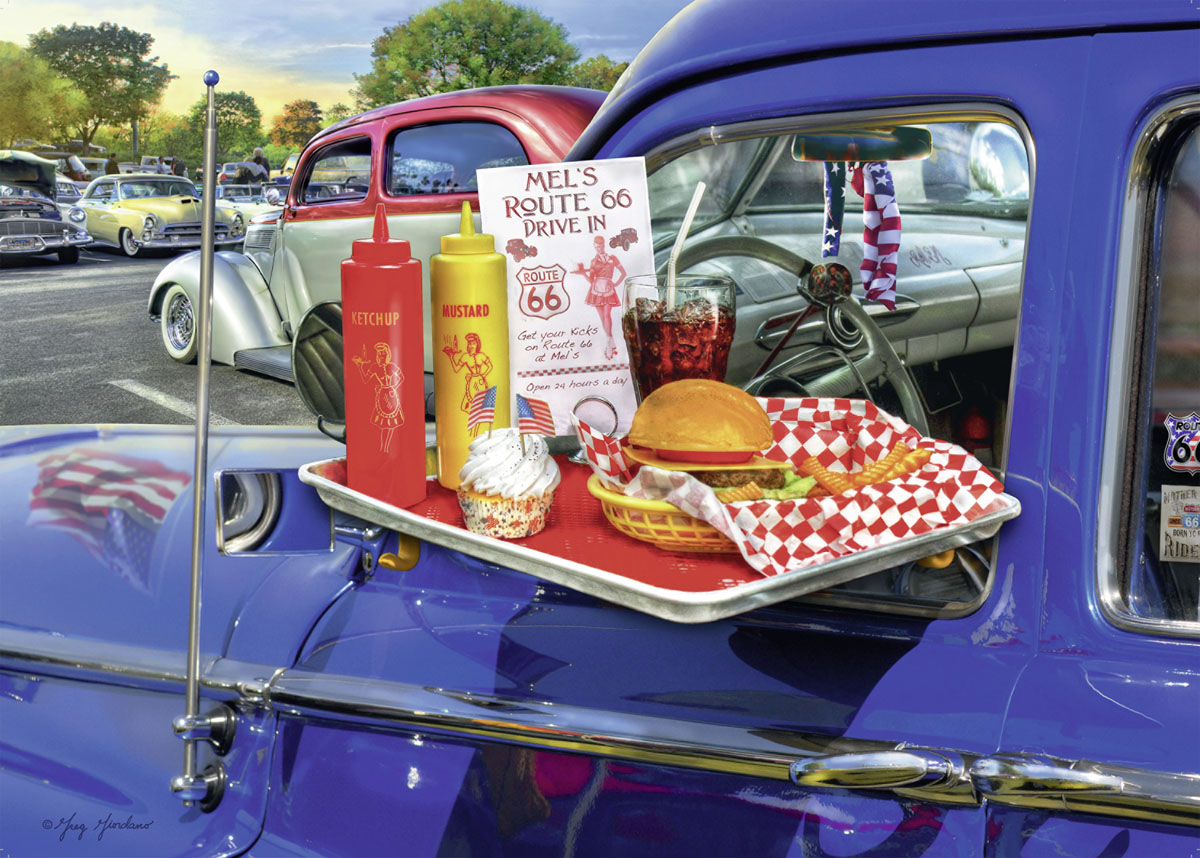 Drive-Thru Route 66 - Scratch and Dent Food and Drink Jigsaw Puzzle