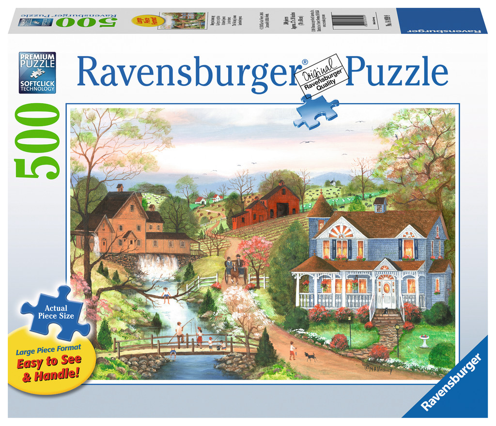 The Fishing Lesson Countryside Jigsaw Puzzle