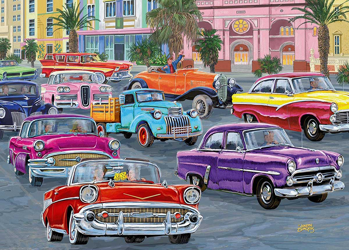 Cruisin' Cars Jigsaw Puzzle
