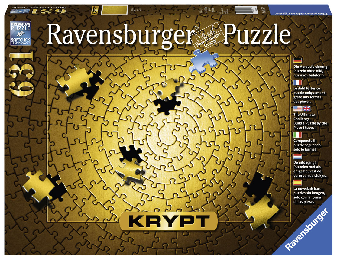 Krypt - Gold Monochromatic Jigsaw Puzzle
