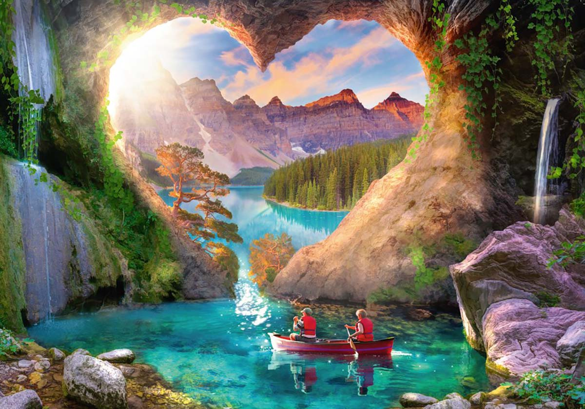 Heartview Cave Mountains Jigsaw Puzzle