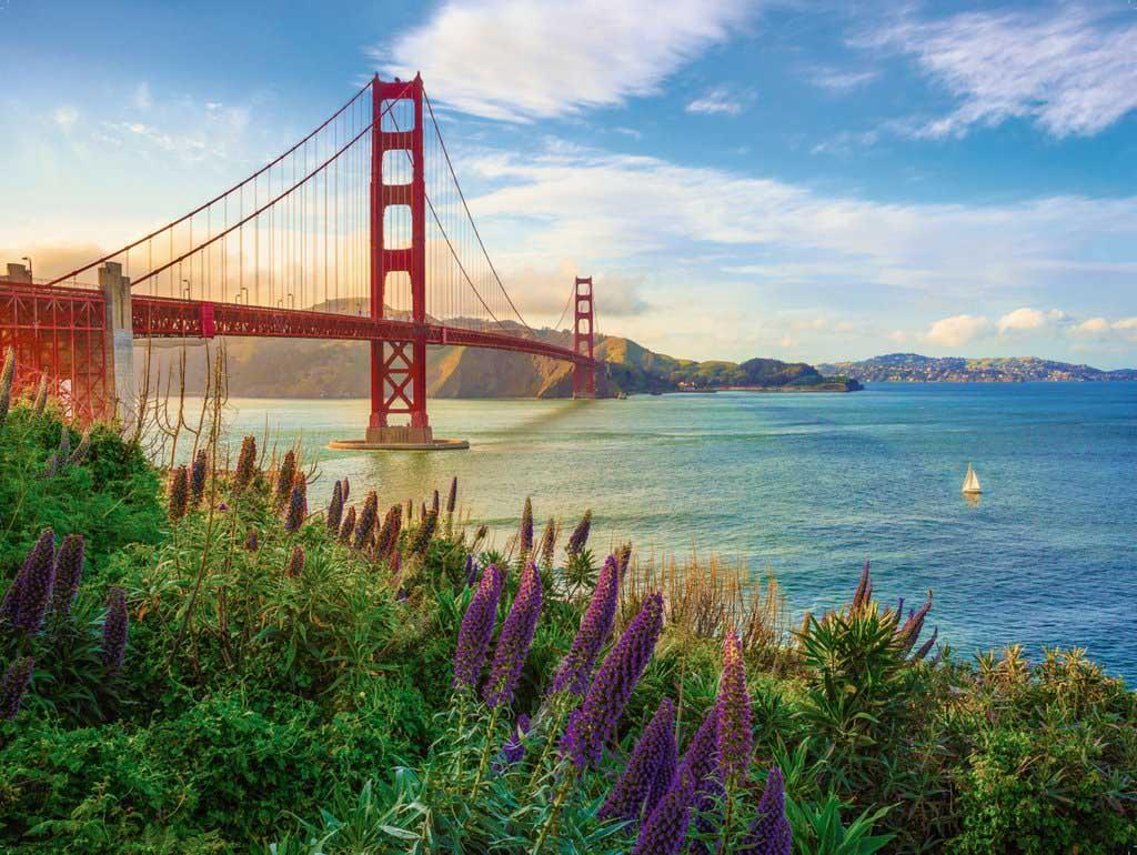 Golden Gate Sunrise Landmarks / Monuments Jigsaw Puzzle