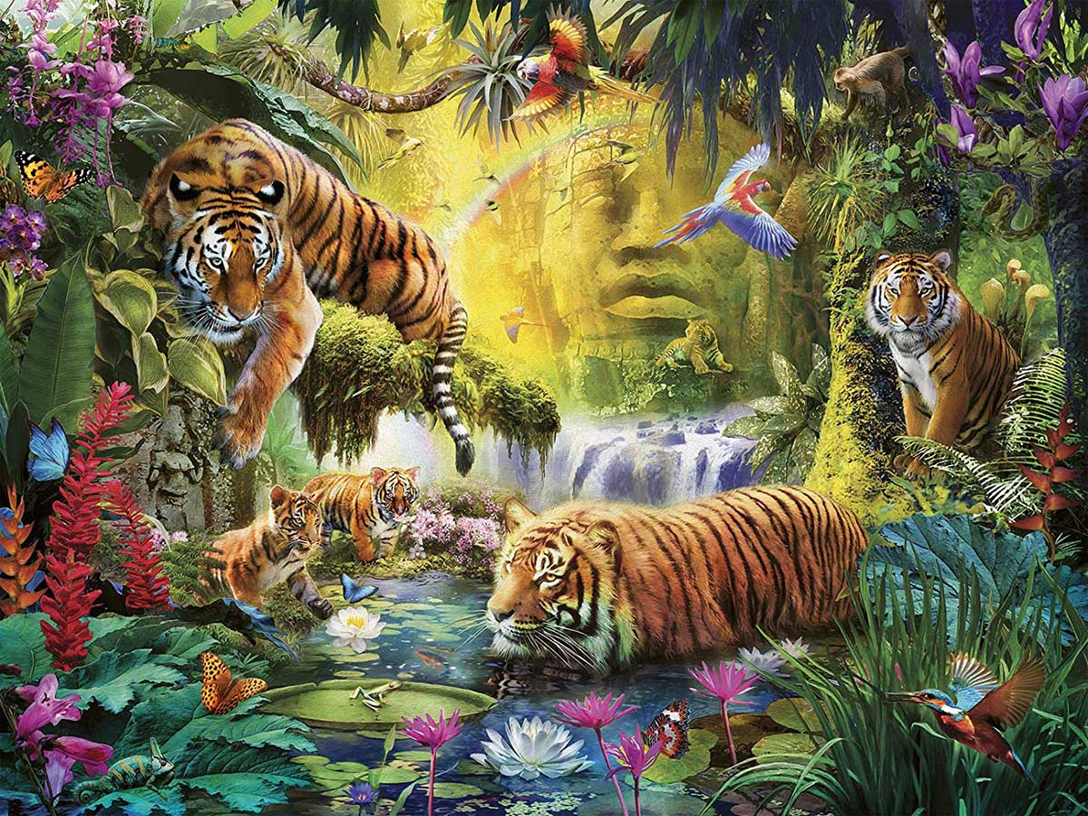 Tranquil Tigers Jungle Animals Jigsaw Puzzle