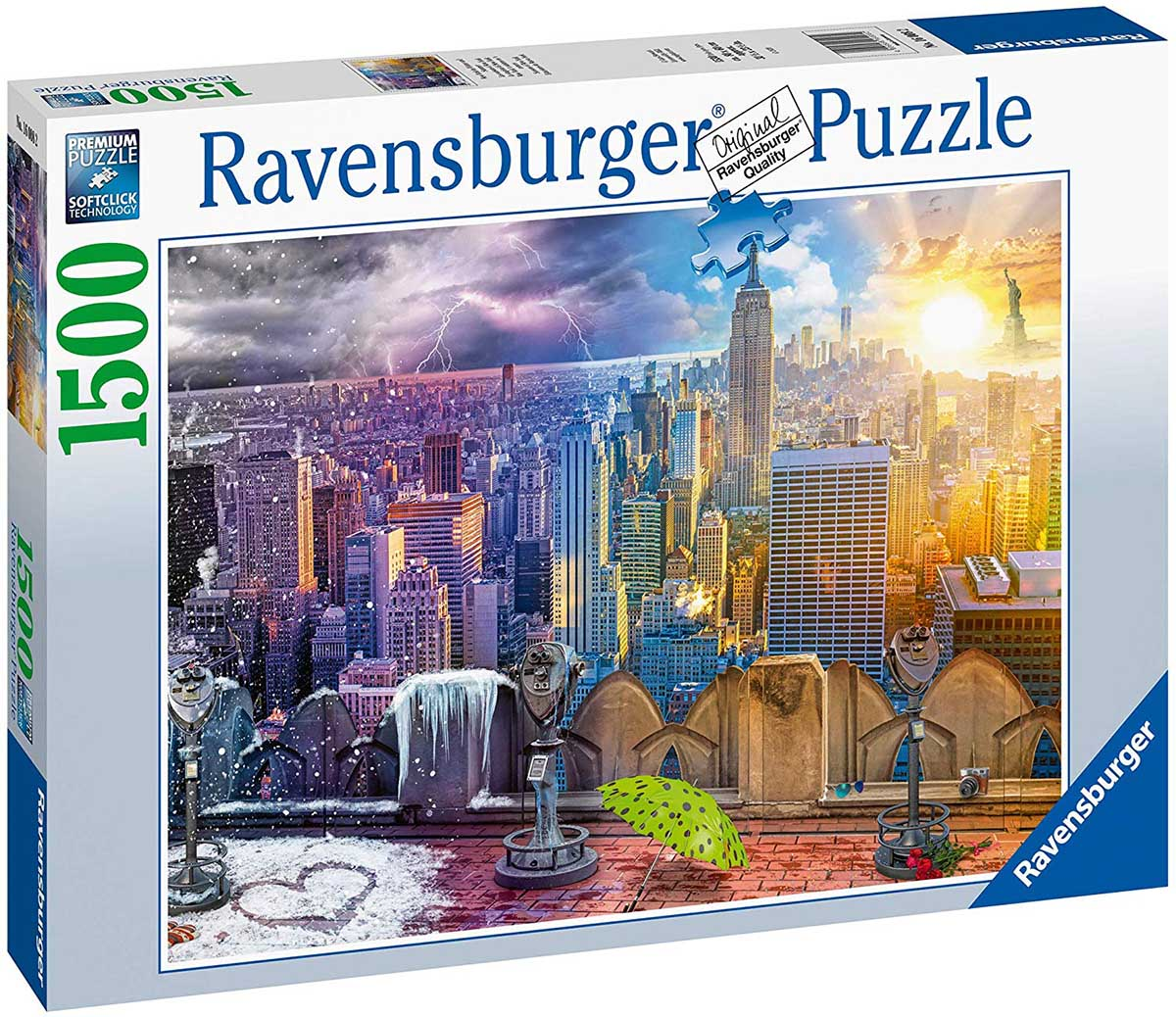 Day & Night NYC Skyline Skyline / Cityscape Jigsaw Puzzle