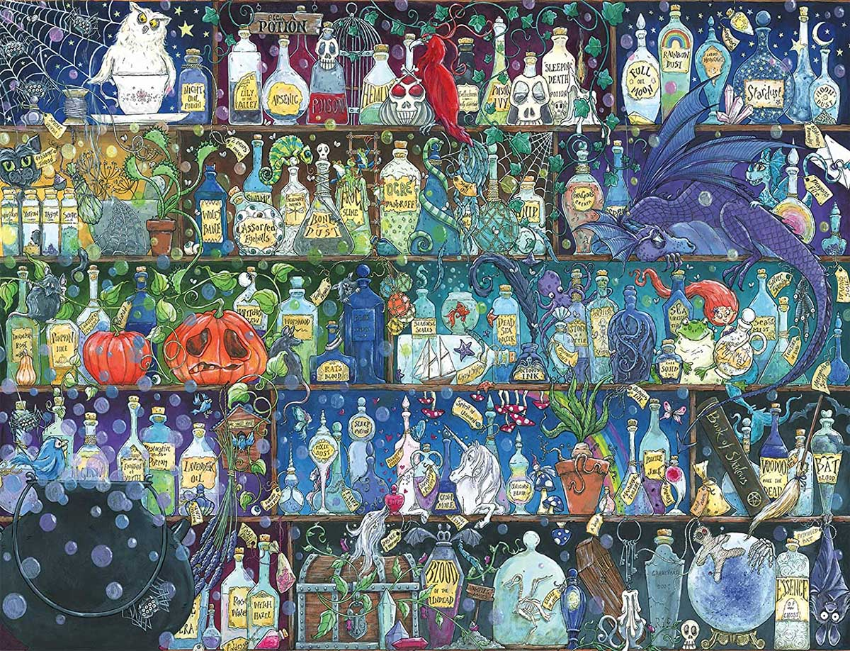 Poisons and Potions Fantasy Jigsaw Puzzle