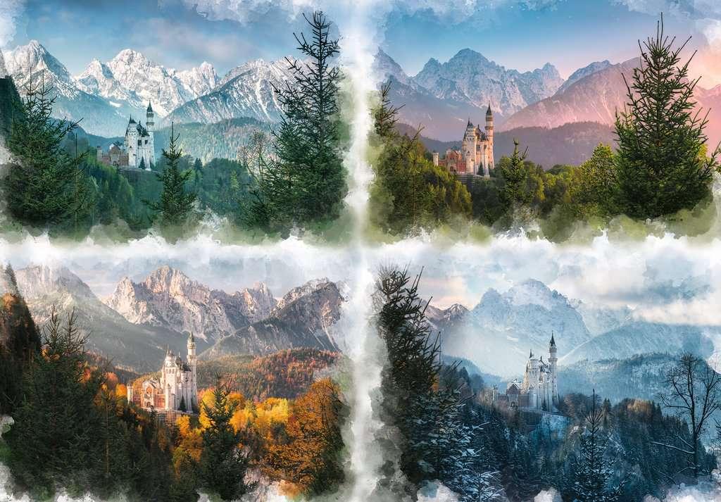 Castle Through the Seasons Castles Jigsaw Puzzle