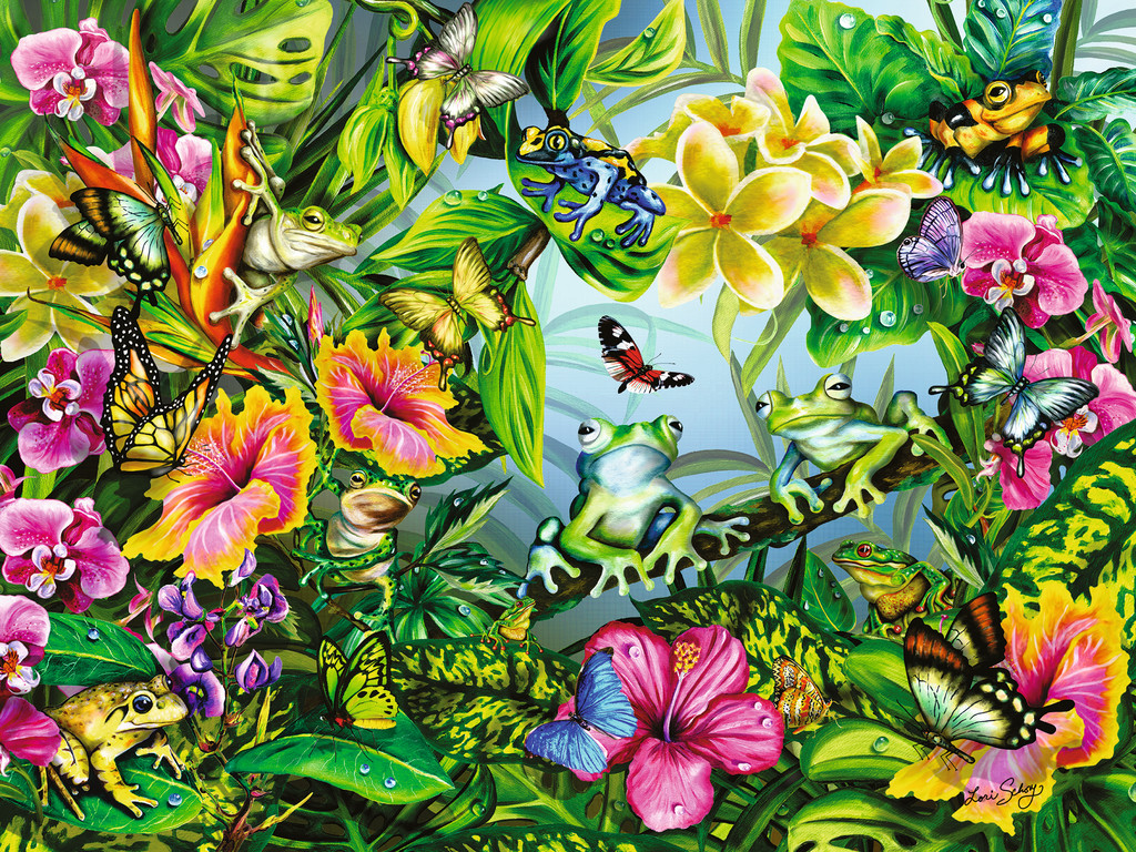 Find the Frogs Wildlife Jigsaw Puzzle