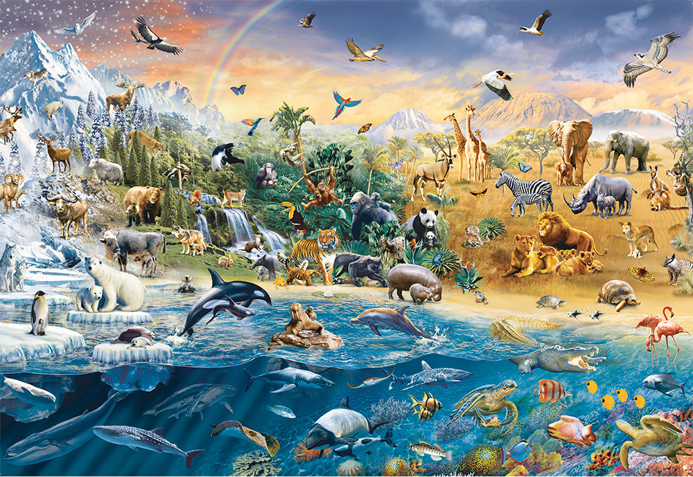 Our Wild World Animals Jigsaw Puzzle