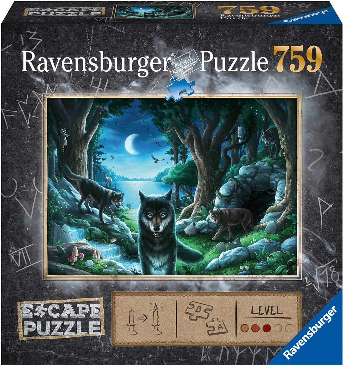 Curse of the Wolves Wolves Jigsaw Puzzle