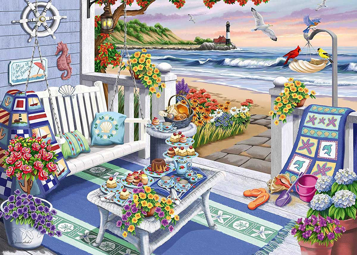Seaside Sunshine - Scratch and Dent Beach Jigsaw Puzzle