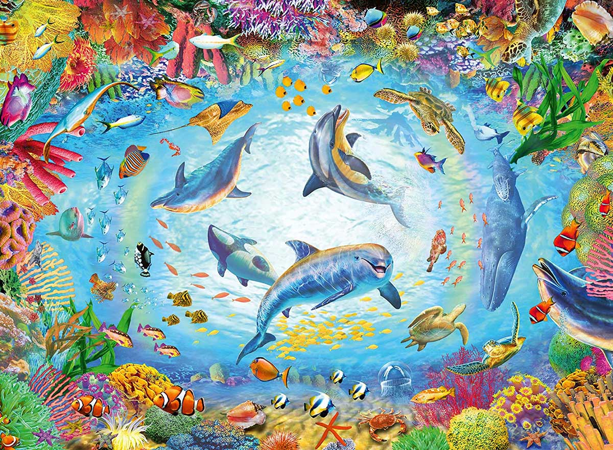 Cave Dive Under The Sea Jigsaw Puzzle