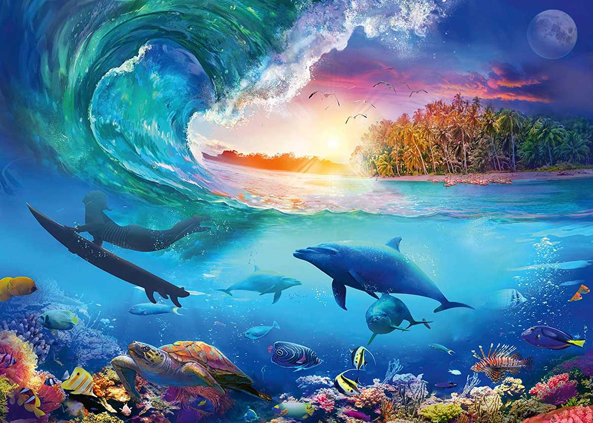 Catch a Wave Under The Sea Jigsaw Puzzle