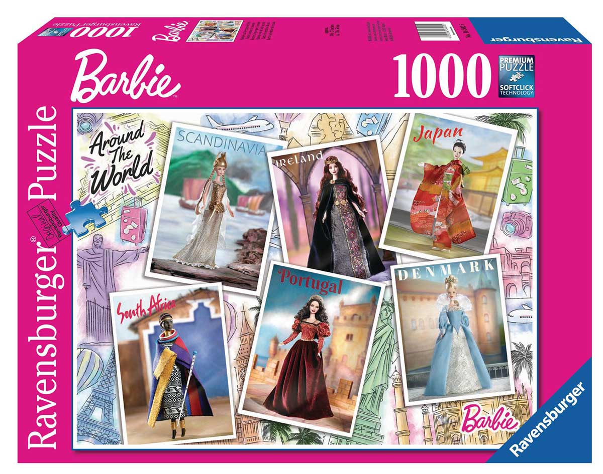 Barbie Around the World Travel Jigsaw Puzzle