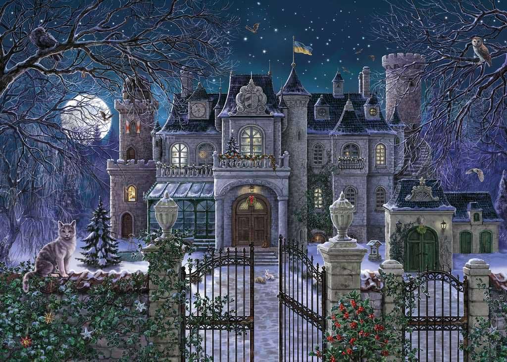 Christmas Villa Winter Jigsaw Puzzle