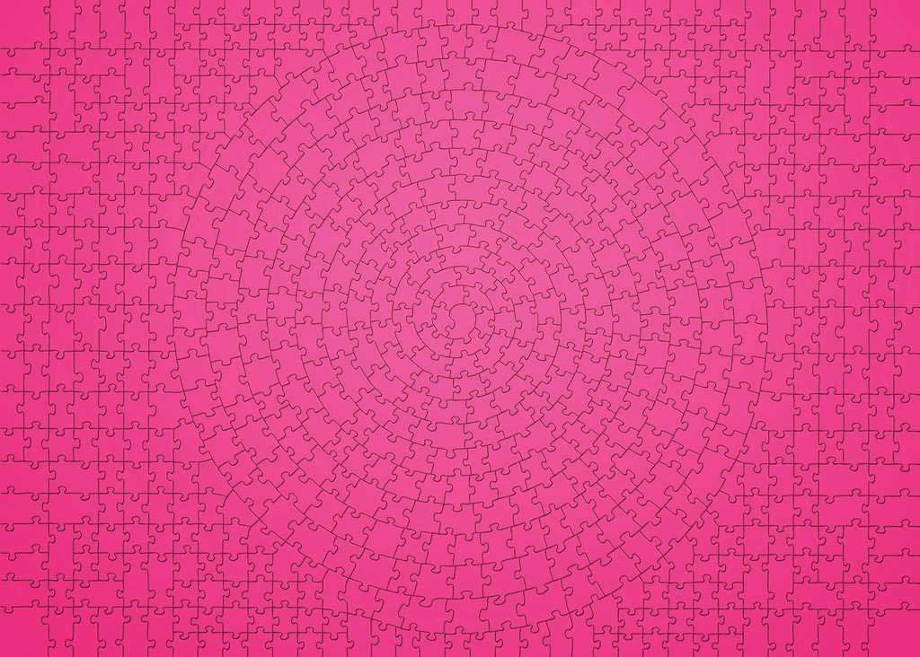 Krypt Pink Abstract Jigsaw Puzzle
