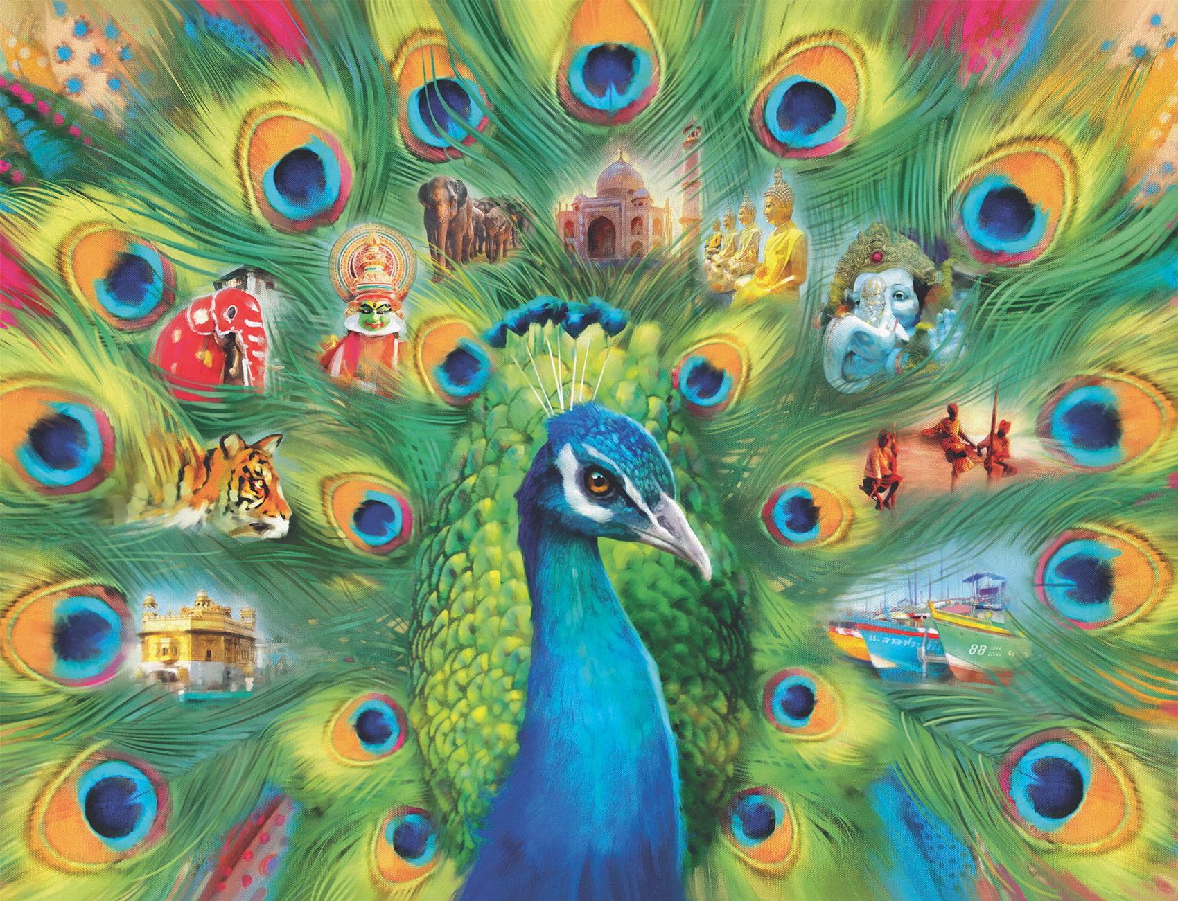 Land of the Peacock Birds Jigsaw Puzzle