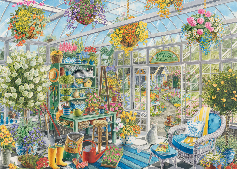 Greenhouse Heaven Flowers Jigsaw Puzzle