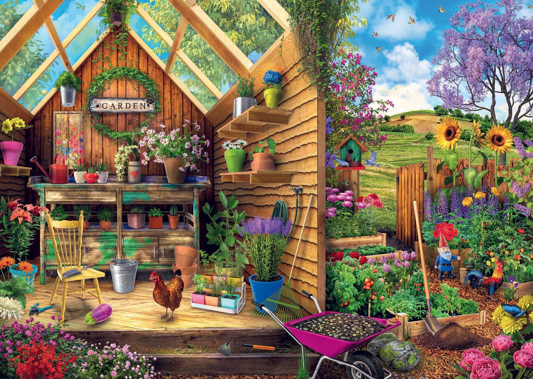 Gardener's Getaway Flowers Jigsaw Puzzle