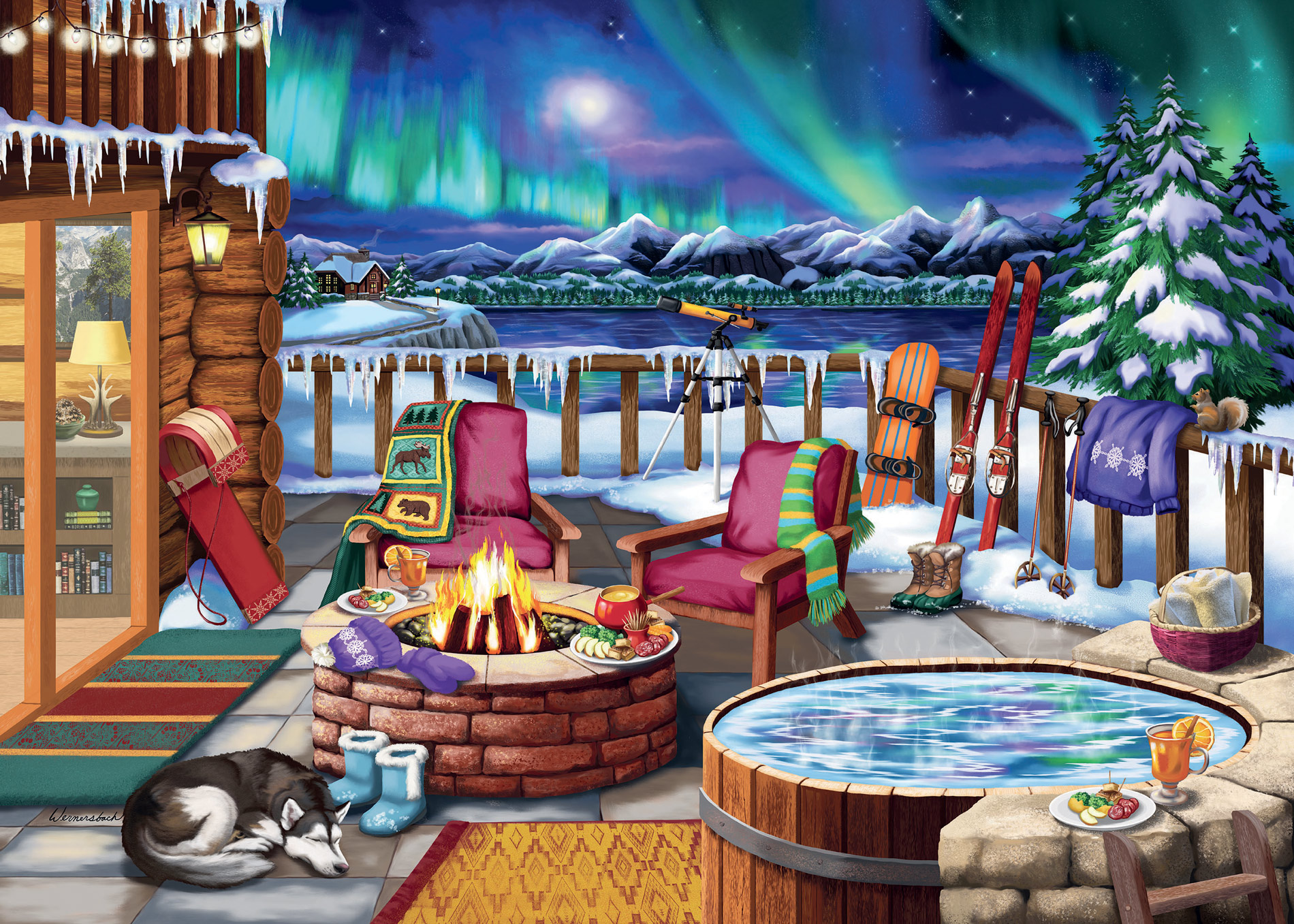 Northern Lights Nature Jigsaw Puzzle