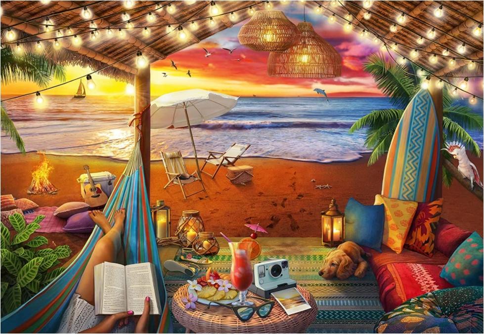 Cozy Cabana Travel Jigsaw Puzzle