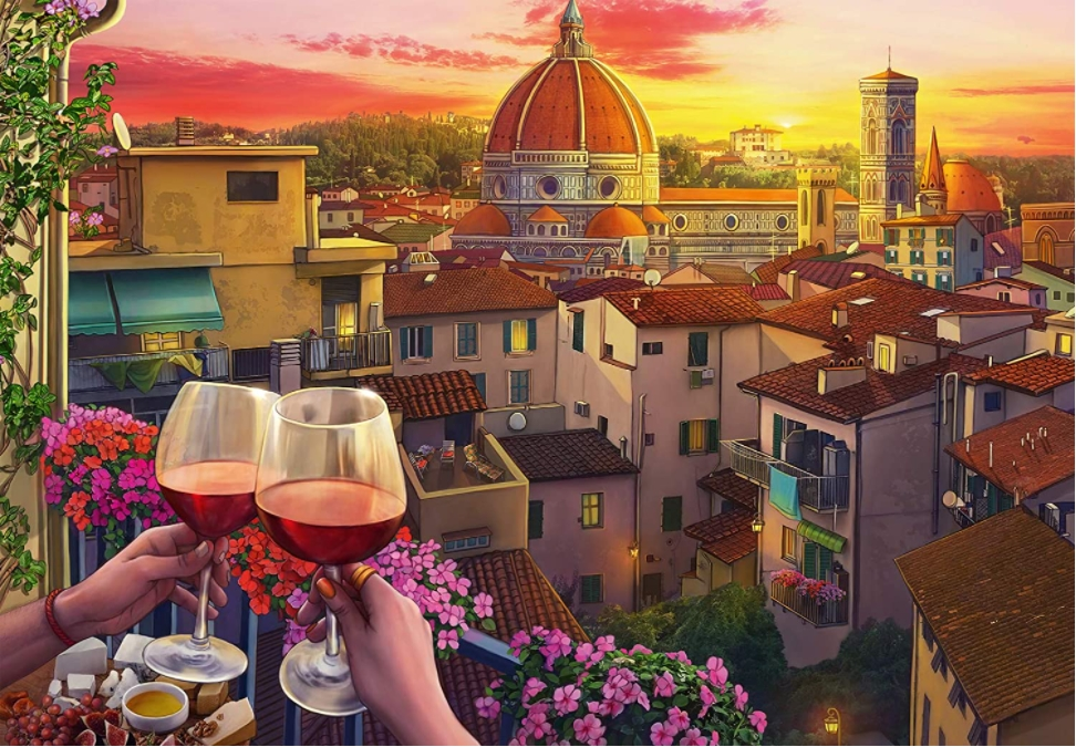 Cozy Wine Terrace Travel Jigsaw Puzzle