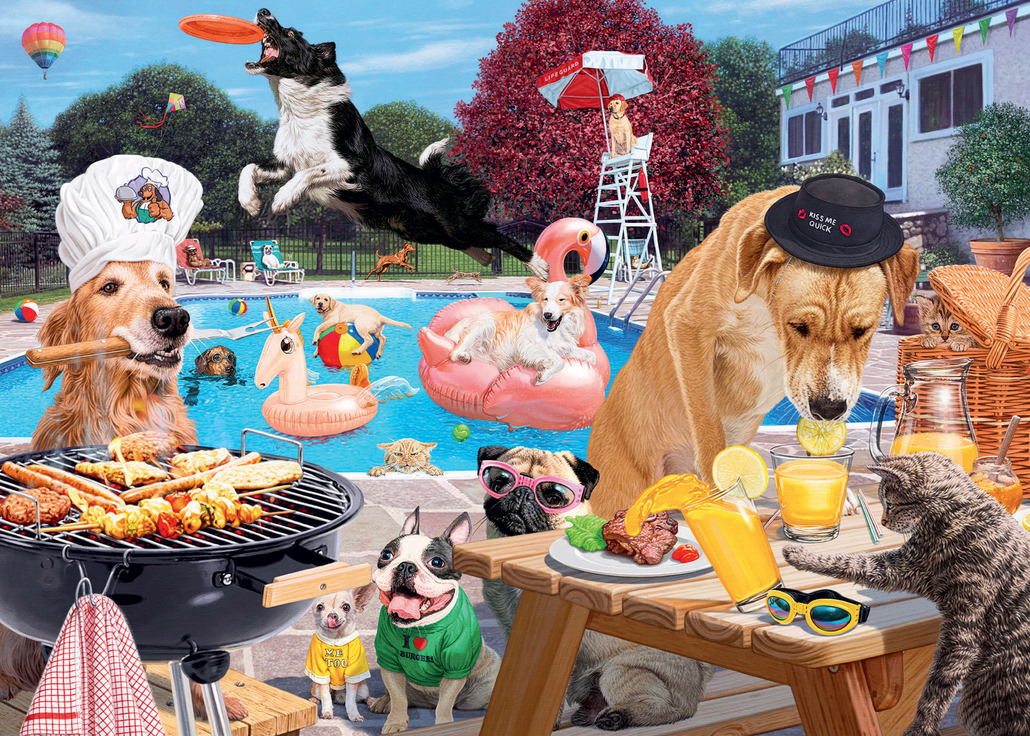 Dog Days of Summer Dogs Jigsaw Puzzle
