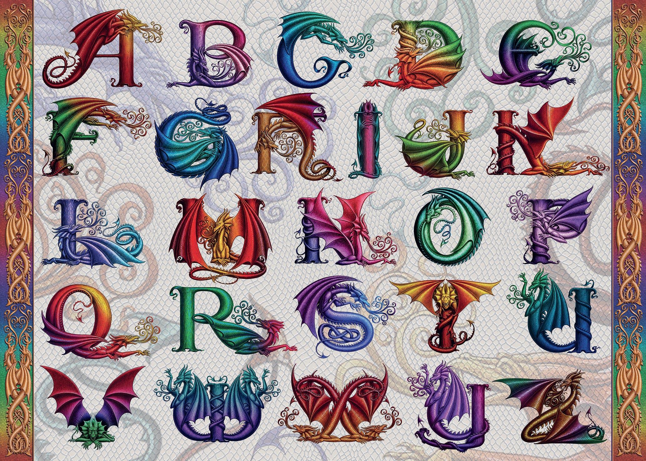 Dragon Alphabet Dragons Jigsaw Puzzle
