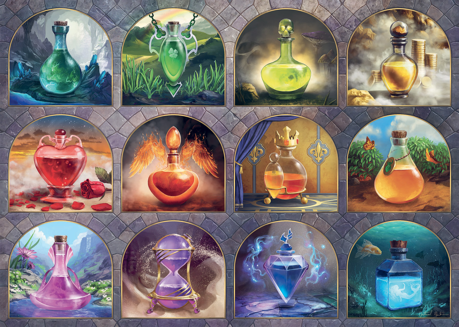 Magical Potions Fantasy Jigsaw Puzzle