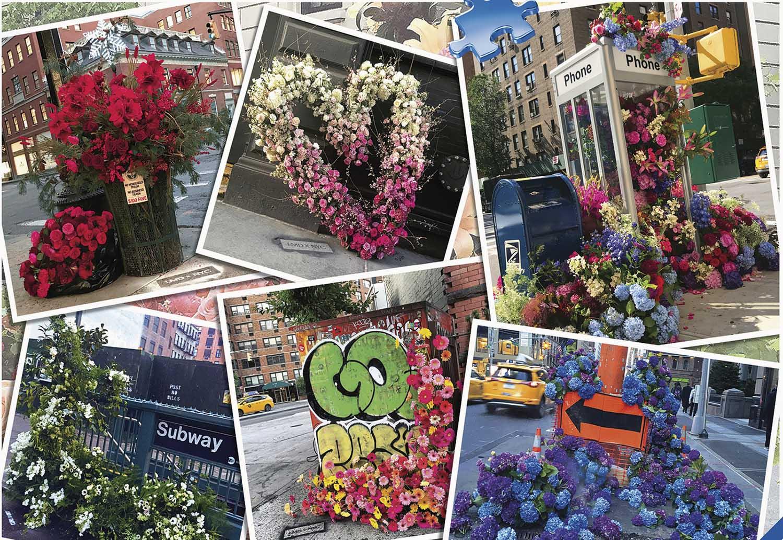 NYC Flower Flash Flowers Jigsaw Puzzle