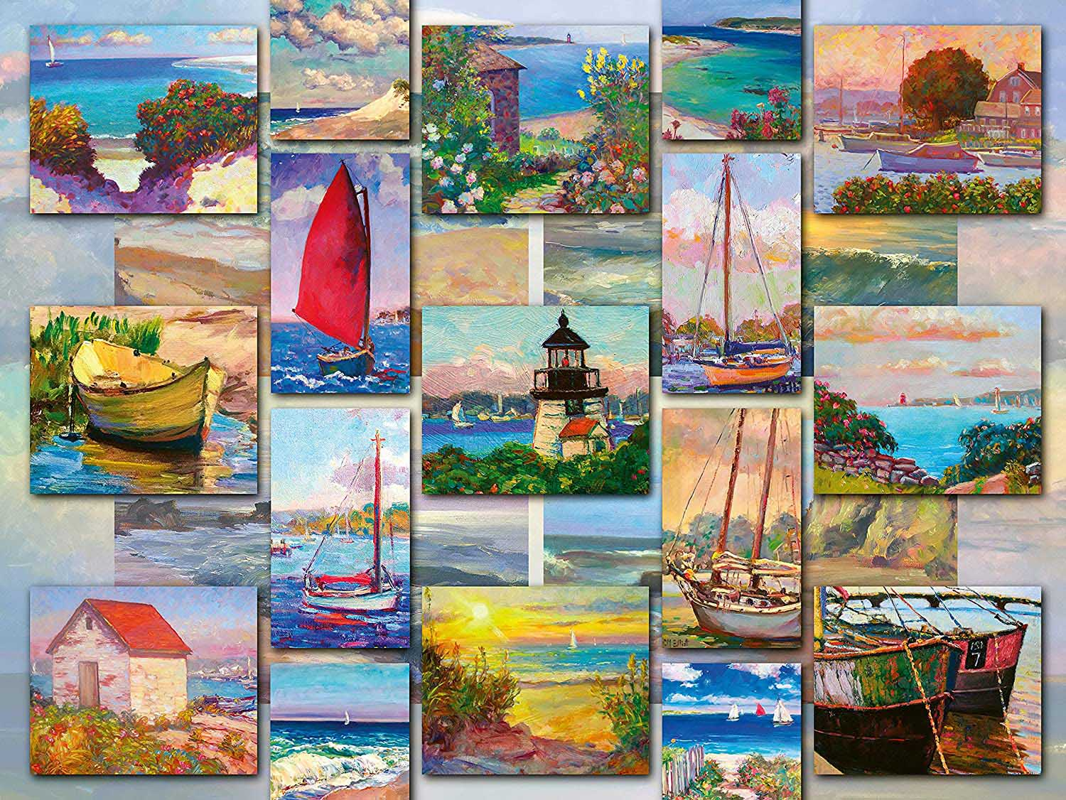Coastal Collage Collage Jigsaw Puzzle