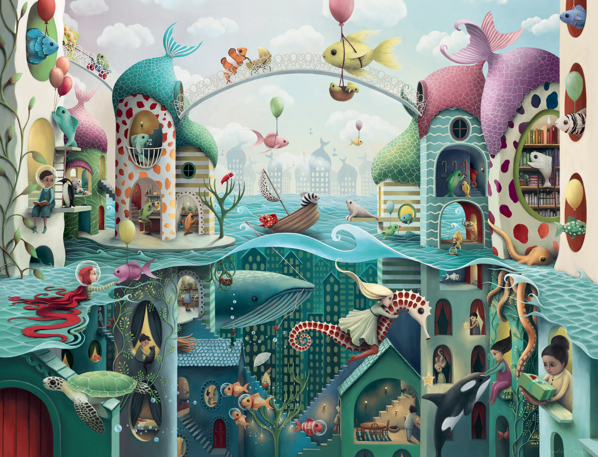 If Fish Could Walk Under The Sea Jigsaw Puzzle