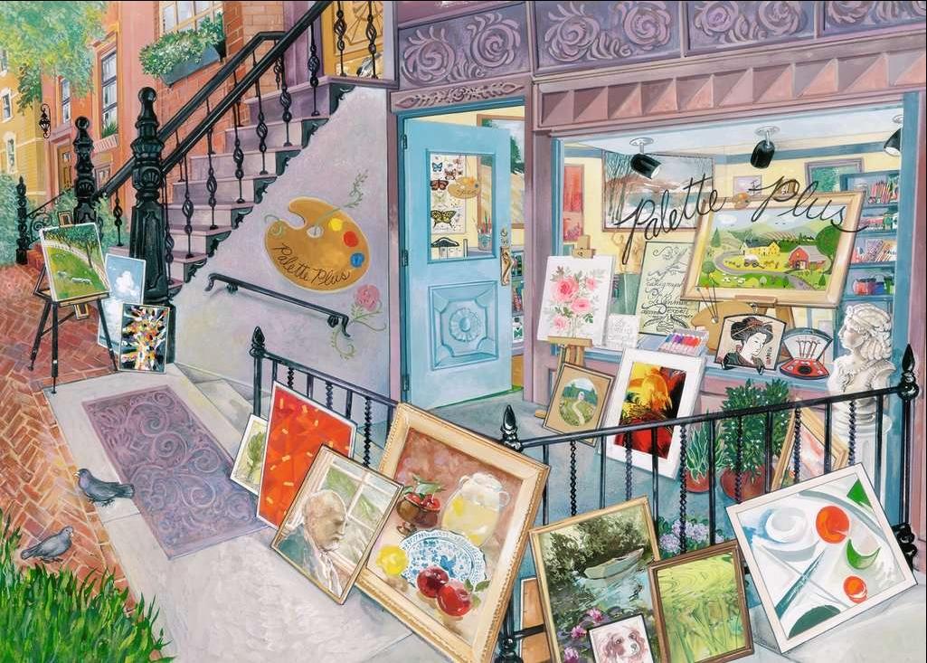 Art Gallery Street Scene Jigsaw Puzzle