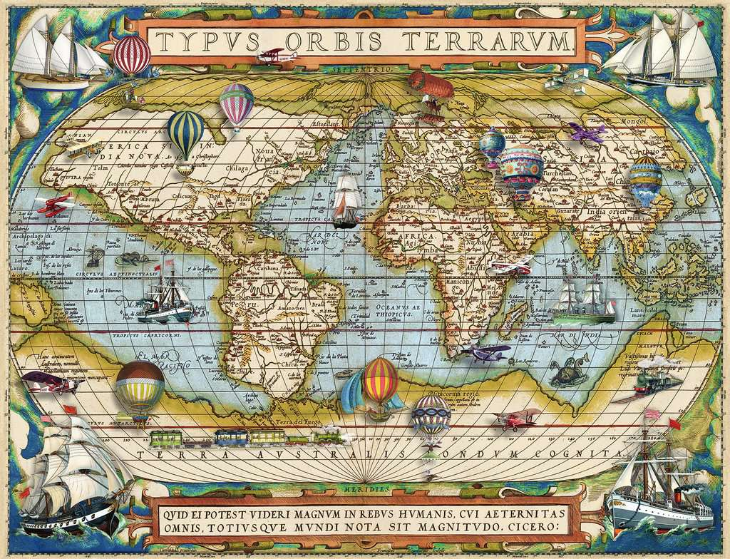 Around the World Maps / Geography Jigsaw Puzzle