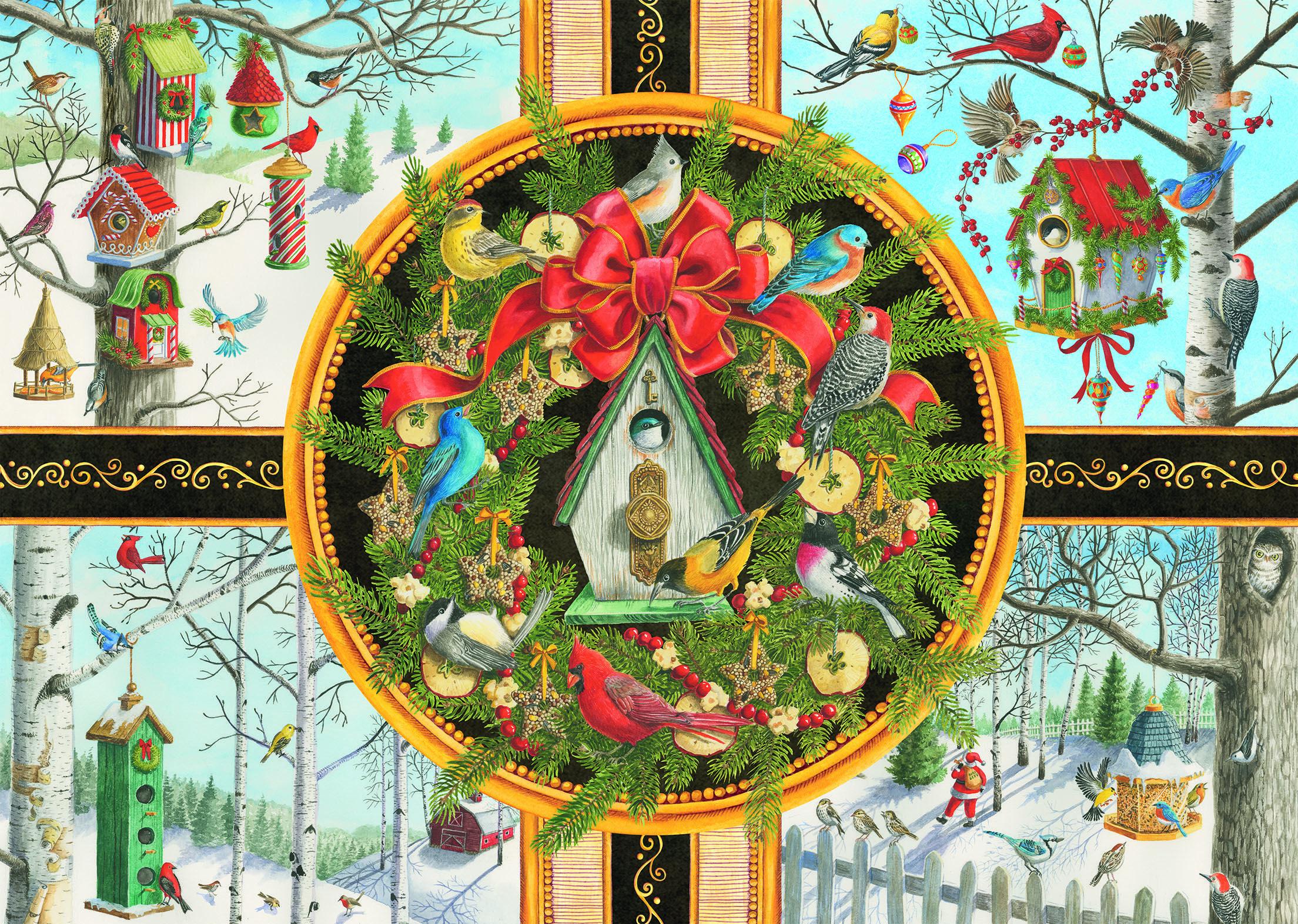 Christmas Songbirds Birds Jigsaw Puzzle