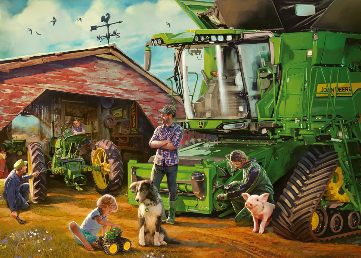 John Deere Then & Now Farm Jigsaw Puzzle